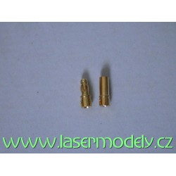 Zlacené konektory 3.5 mm (pár)