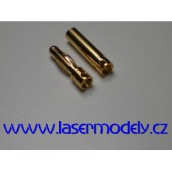 Zlacené konektory 4 mm (pár)