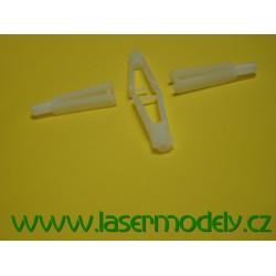 Vidlička plastová bílá