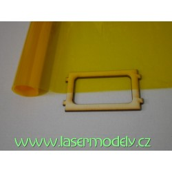 Fólie transparentní žluto-oranžová