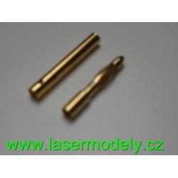 Zlacené konektory 2 mm (pár)