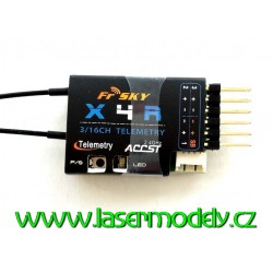 FrSky X4R-SB 3-16CH ACCST 2,4GHz telemetrický přijímač